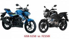 So sánh Suzuki GSX-S150 2018 với Yamaha FZ150i 2018