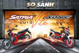 So sánh Suzuki Satria 2019 với Honda Sonic 2019