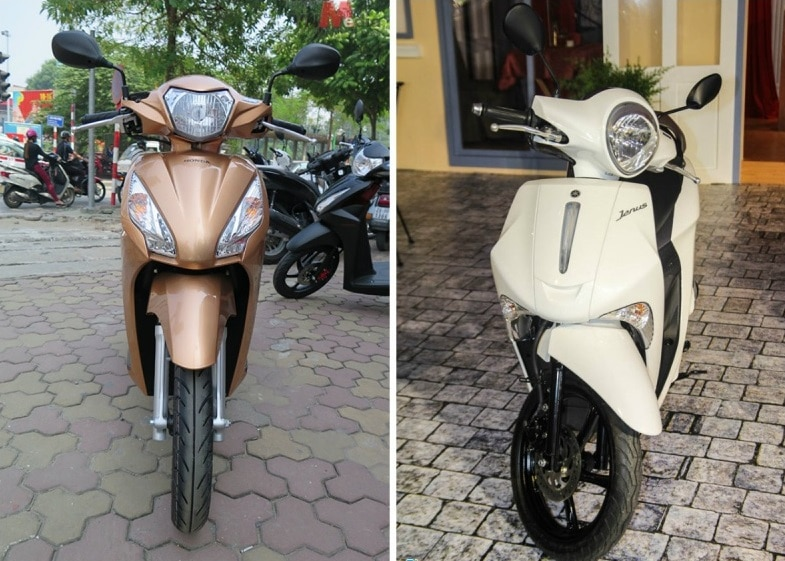 So sánh yamaha janus vs honda vision - 2