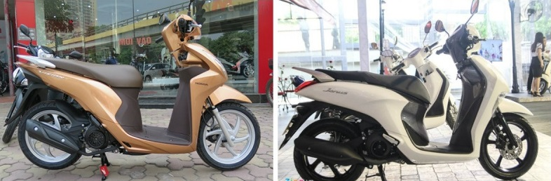 So sánh yamaha janus vs honda vision - 1