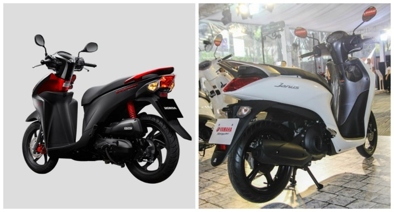 So sánh yamaha janus vs honda vision - 6