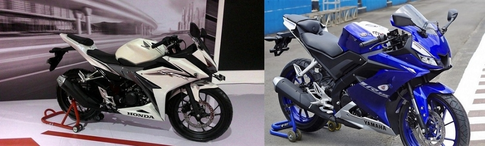 So sánh yamaha r15 2018 vs honda cbr 150 2018 - 1
