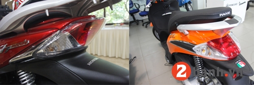 So sánh sh mode vs piaggio liberty 2014 - 5