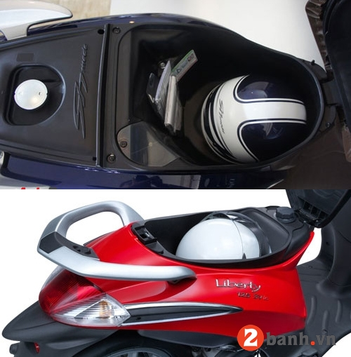 So sánh sh mode vs piaggio liberty 2014 - 9