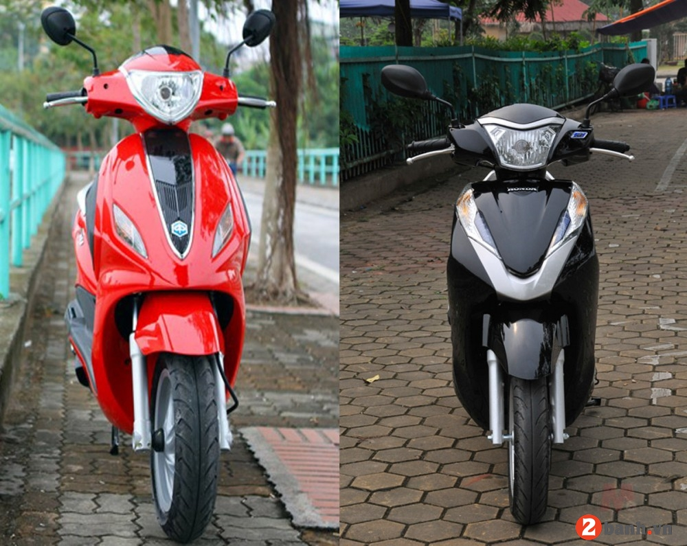So sánh honda lead 125 vs piaggio fly 3v 2015 - 2