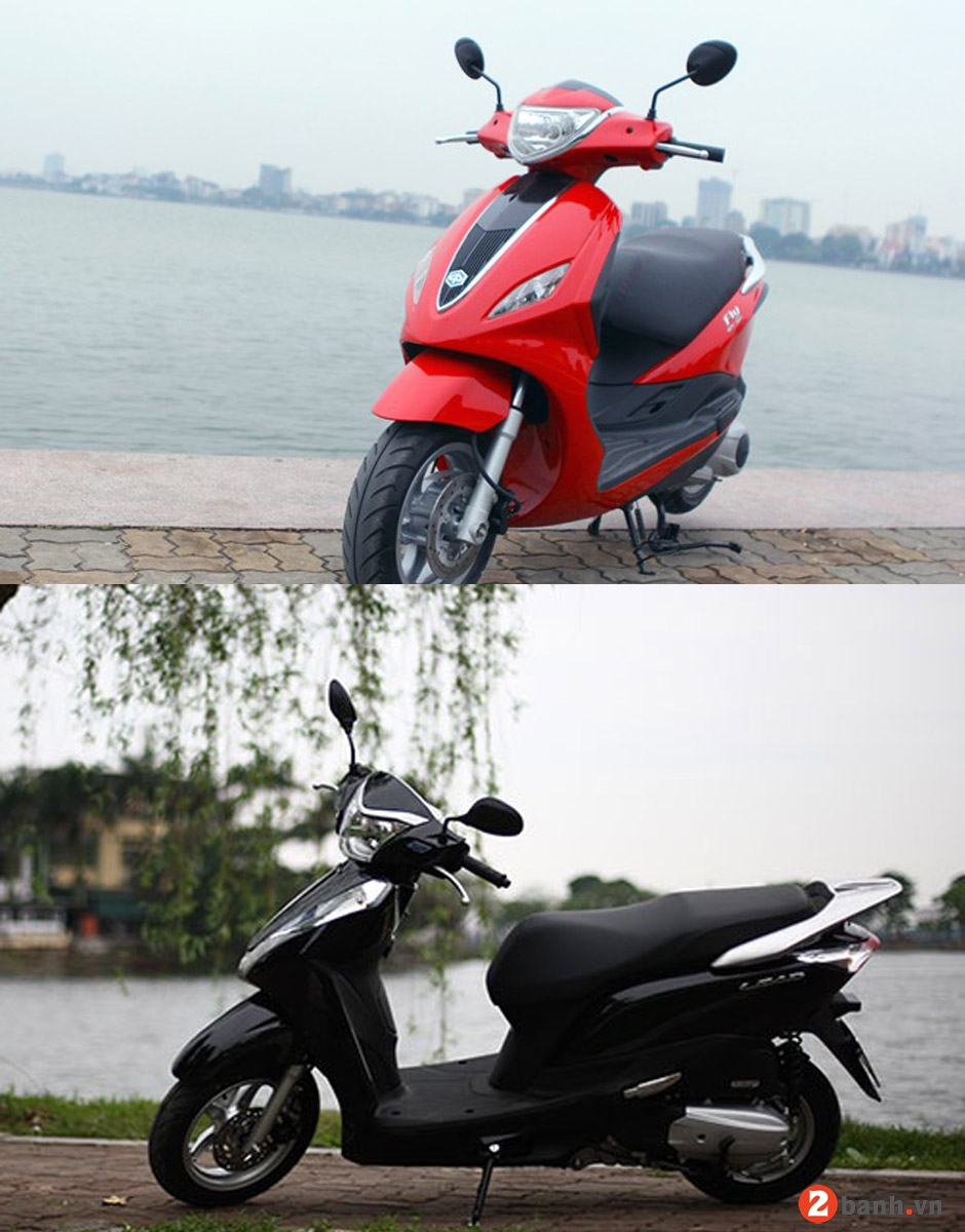 So sánh honda lead 125 vs piaggio fly 3v 2015 - 1