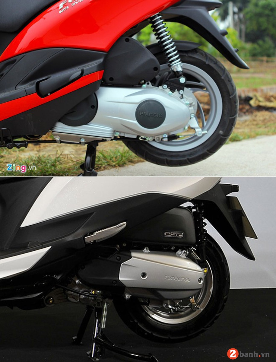 So sánh honda lead 125 vs piaggio fly 3v 2015 - 7