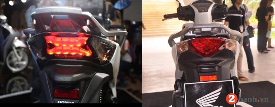 So sánh honda sh 2018 mới vs sh 2016 cũ - 3