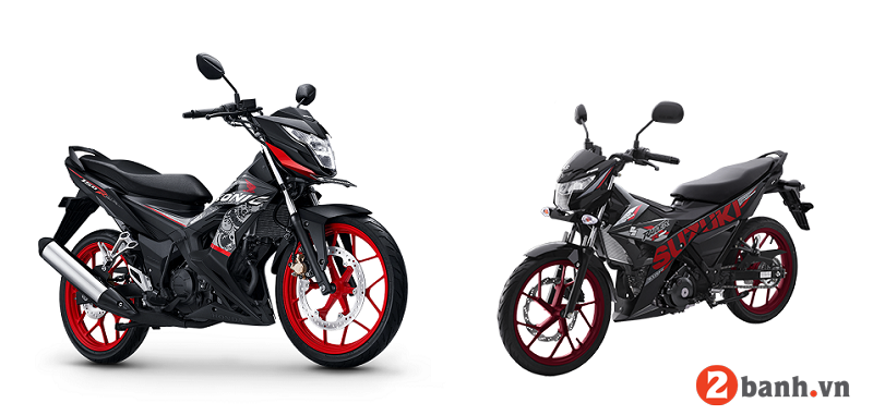 So sánh suzuki raider 150 vs honda sonic 150 - 1