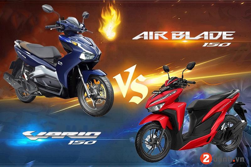 So sánh air blade 150 và vario 150 nhập khẩu nên mua xe nào - 1