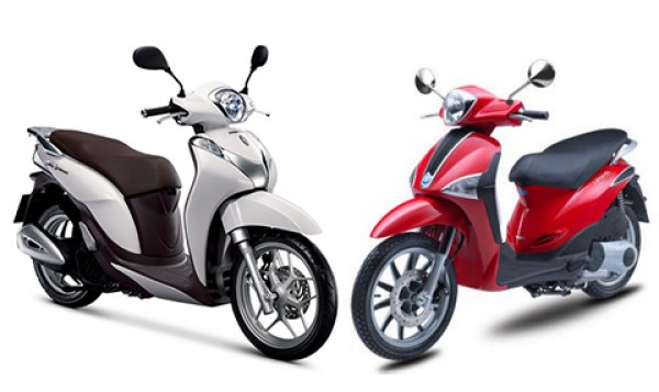 So sánh SH mode vs Piaggio Liberty 2014