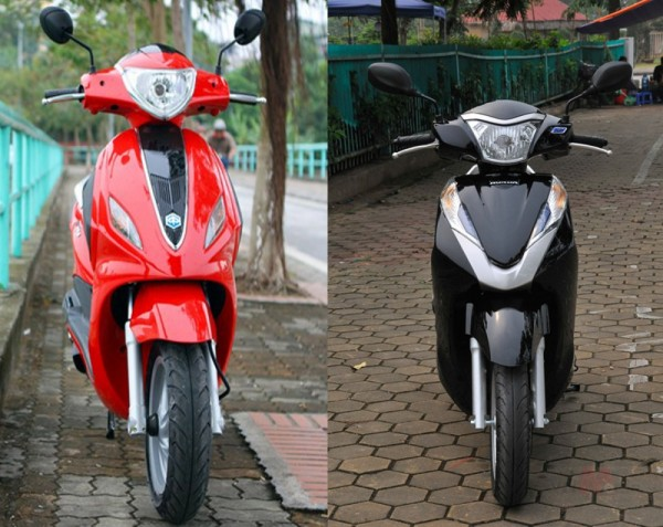 So sánh Honda Lead 125 vs Piaggio Fly 3V 2015