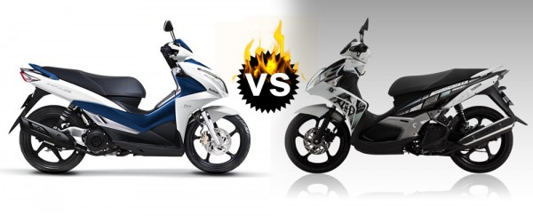 So sánh Nouvo FI 2015 vs Suzuki Impulse