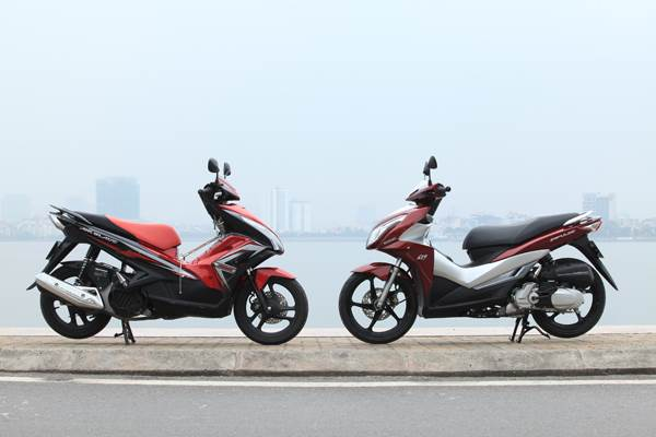 So sánh Suzuki Impulse vs Honda Air Blade