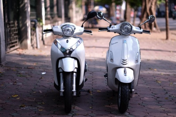 So sánh Vespa Primavera vs SH mode