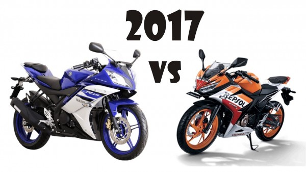So sánh Yamaha R15 2017 vs Honda CBR 150 2017