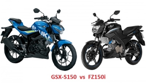 So sánh Suzuki GSX-S150 2017 với Yamaha FZ150i 2017