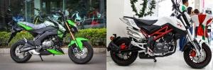 So sánh Kawasaki z125 pro và Benelli TNT 125
