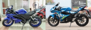 So sánh Yamaha R15 2017 với Suzuki GSX-R150