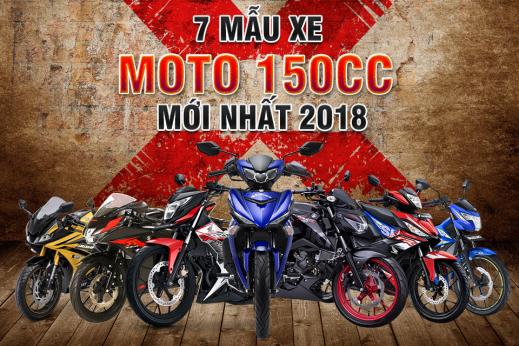 7 mẫu xe Moto 150cc mới nhất 2018 tại thị trường Việt Nam