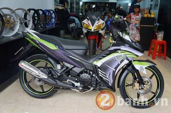 Exciter GP dán tem Dragon Tatoo tại Decal4bike.